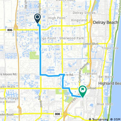 ride from Delray Beach to Boca Raton