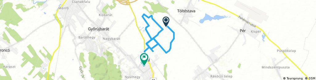 bike tour through Nyúl