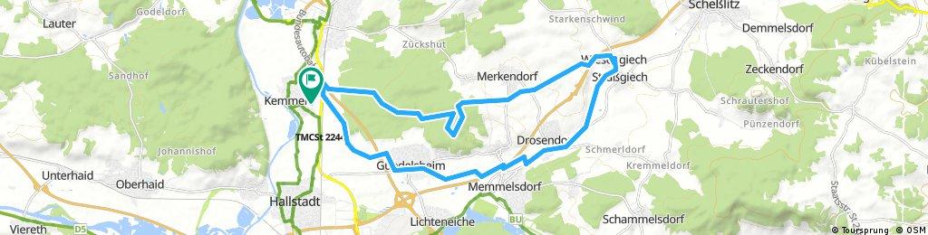 Tour zum Biergarten in Wiesengiech.gpx