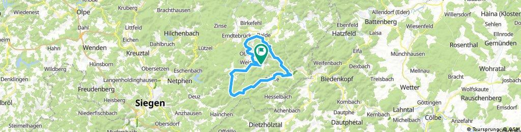 Feudingen-Dille-Laasphe-Banfe-Heiligenborn-Siegquelle