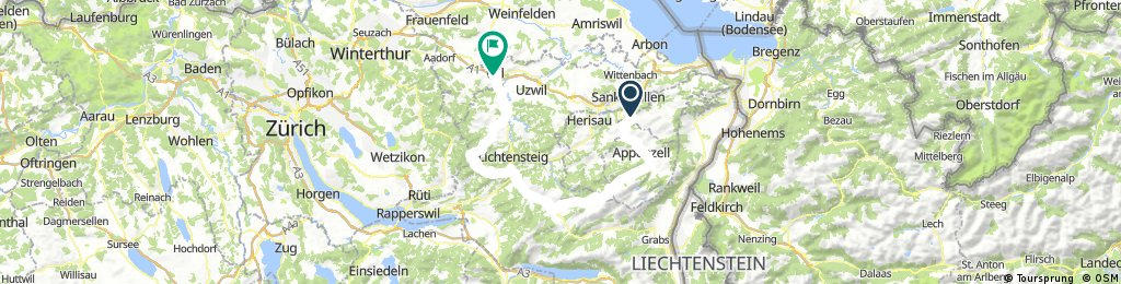 Teufen-Schwägalp-Wattwil-Chrüzegg-Wil