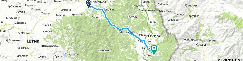 Long bike tour from Vinitsa to Berovo