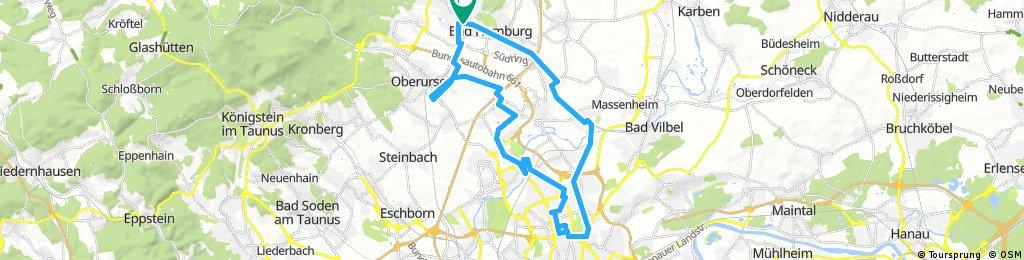 Radrunde über Bergheim Heddernheim und Oberursel