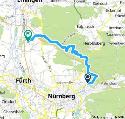 Ausfahrt durch Nürnberg