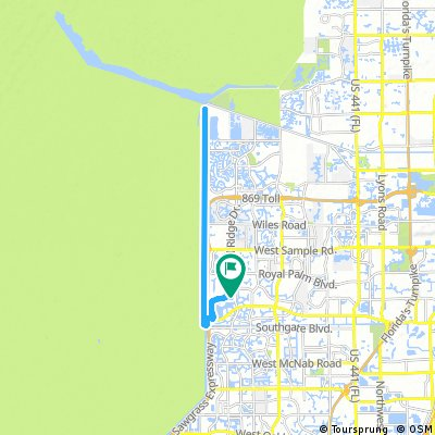 Map Of Florida Showing Coral Springs.Cycling Routes And Bike Maps In And Around Coral Springs Bikemap
