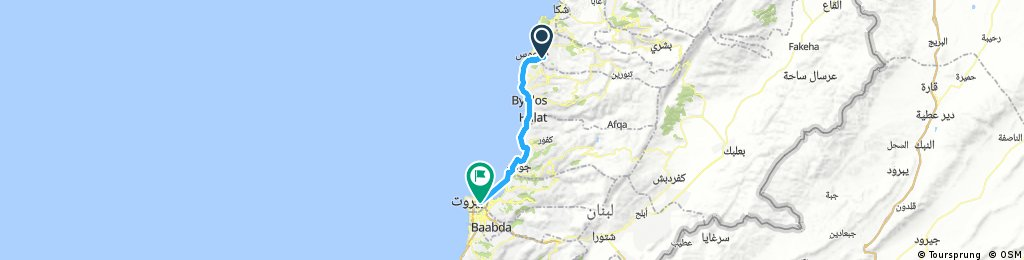 Lengthy ride from (null) to Beirut