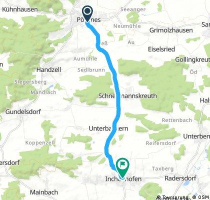 Schnelle Radrunde von Pöttmes nach Inchenhofen