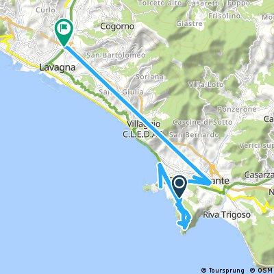 Quick ride through Lavagna