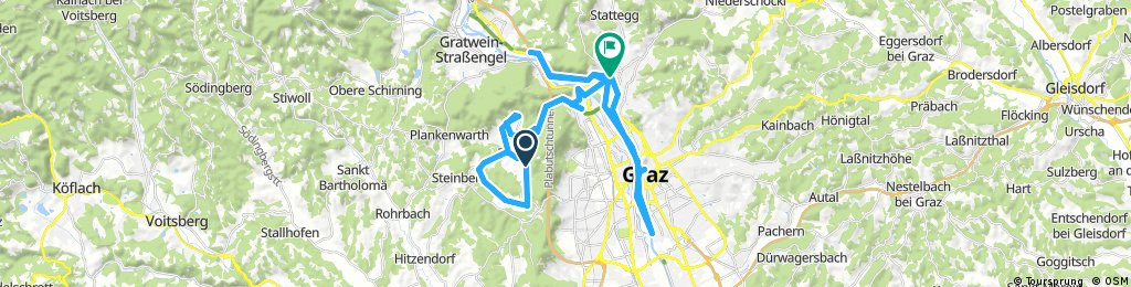 Long ride from Thal to Graz