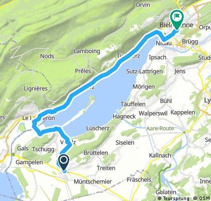 ride through Biel/Bienne