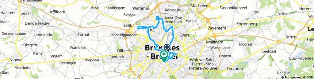 Lange Ausfahrt durch Brüssel