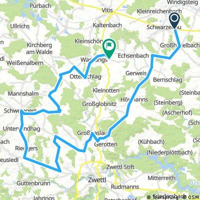 Lange Ausfahrt durch Gemeinde Echsenbach