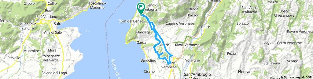 Lange Radrunde durch Torri del Benaco