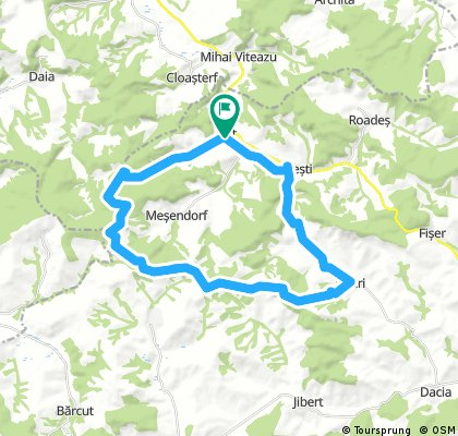 Long bike tour through Criț