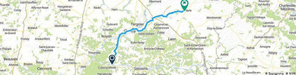 Parijs - Apeldoorn 2e etappe nieuwee route