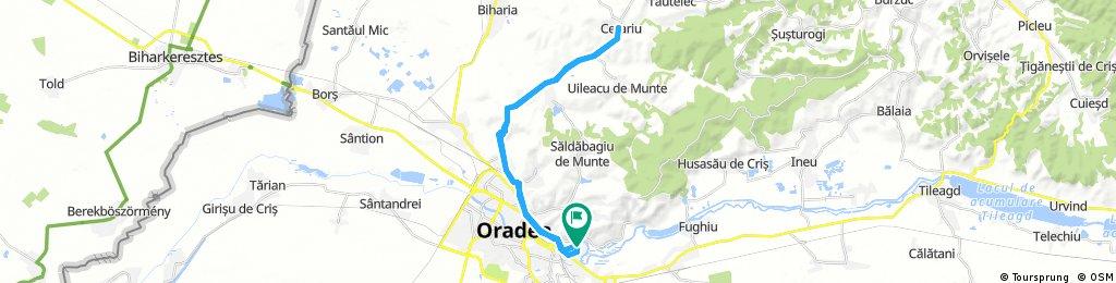 Long bike tour through Oradea