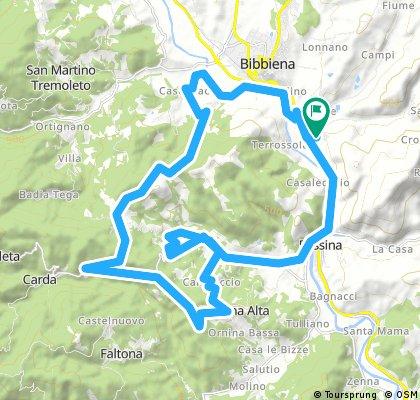 In Mountain Bike per sentieri intorno al monte Fallito
