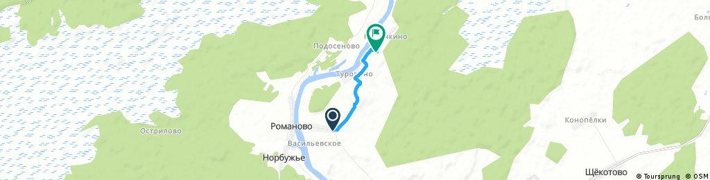 Brief ride through Барыковское сельское поселение