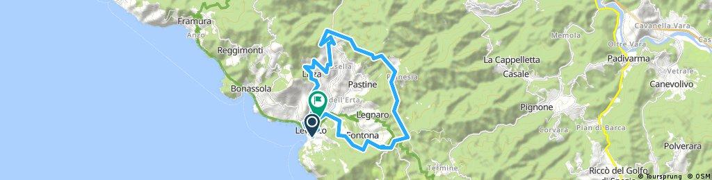 I   Geänderte Route oberhalb Levanto