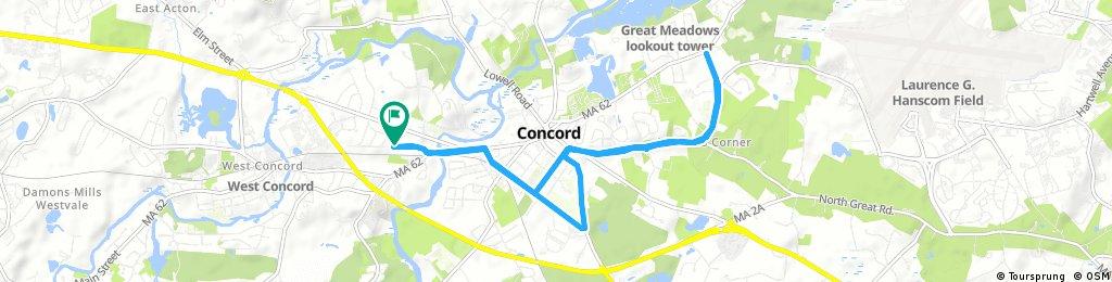 bike tour through Concord