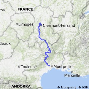 Cycling routes and bike maps in and around ClermontFerrand