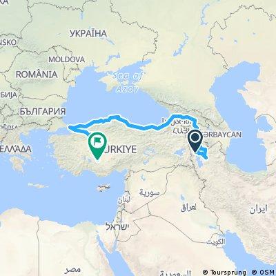 khoy (ShamsTabrizi) To Konya (Mevlana)