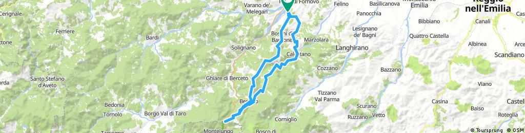 Fornovo - Cassio - Berceto - Passo della Cisa - Calestano - Lesignano Palmia (Parma)