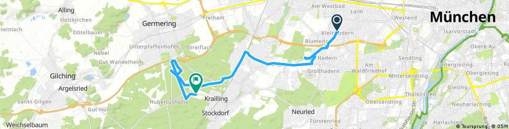 Ausfahrt von München nach Krailling