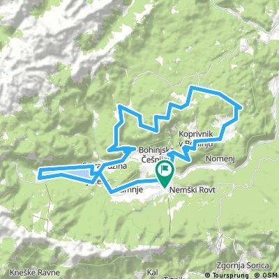 MTB Slovenia 2 diena. Bohinj tour