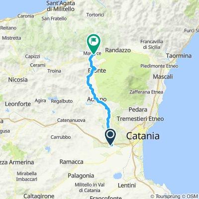 Via Francigena Fabaria 3 tappa Piana di Catania - Abbazia di Maniace