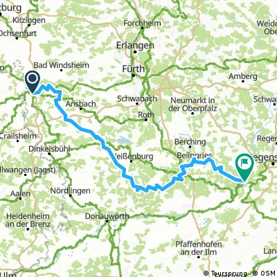 Altmühltag-Radwanderweg West/Ost
