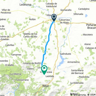 ETAPE 17 VALVERDE DE VALDELACASA 60.5 KMS