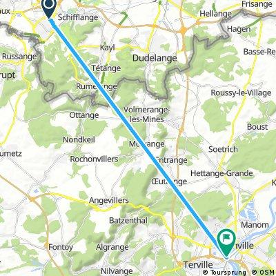 Short bike tour from Esch-Sur-Alzette to Thionville