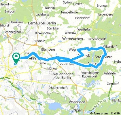 Weißensee - Straußberg - Runde