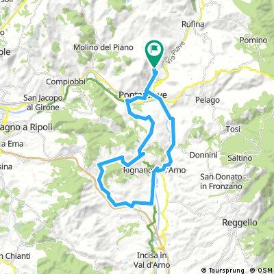 Pievecchia - Pontassieve - Torri - Bombone - Troghi - Incisa - Rignano - Pievecchia