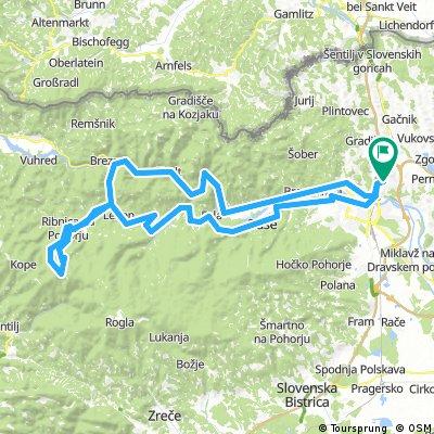 Koroško-Ribniška izletniška pravljica II: Košaki - Ruše - Činžat - Lovrenc - Lahen - Ribnica na Pohorju - Jezerski vrh - Janževski vrh - Podvleka - Ožbalt - Sel