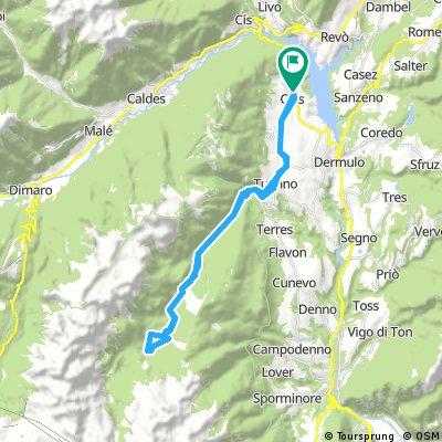Cles - Tuenno - Lago di Tovel (Trento)