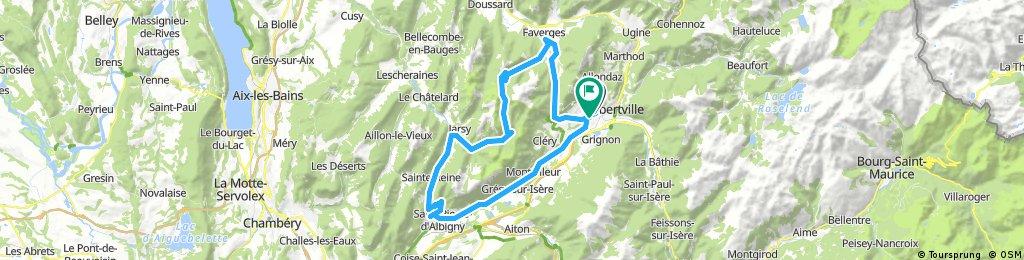 Albertville-Col d` Orgeval-Albertville