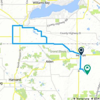 Lengthy bike tour through