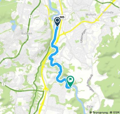 Nidelva mellom Tempe og Øvre Leirfoss