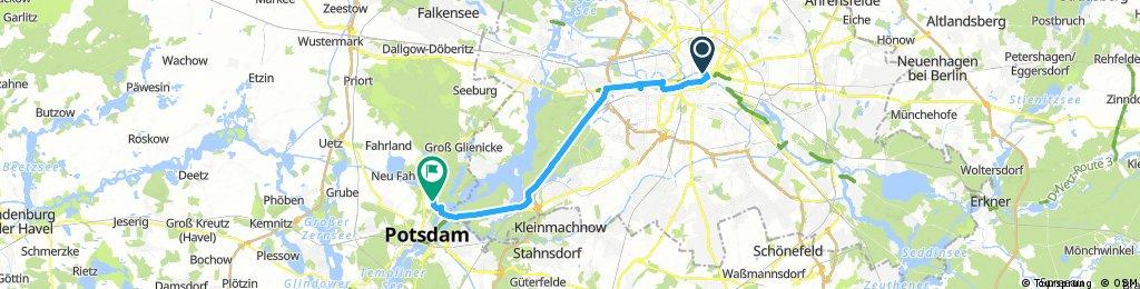 Lange Radrunde nach   Potsdam