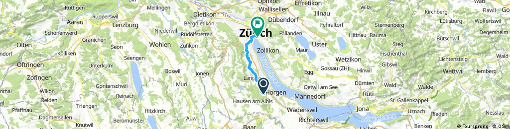 ride from Horgenberg to Zürich