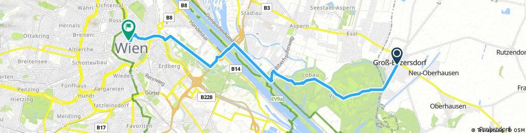 Ausfahrt von Groß Enzersdorf nach Wien