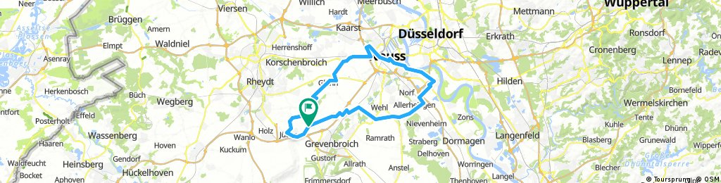 60km bis zum Rhein