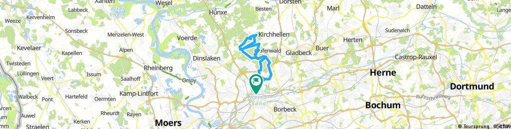 Olga - Golfplatz - Stadtteich Bottrop - Grafenmühle - Heide- und Heidhofsee und zurück