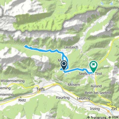Lange Radrunde von Leutasch nach Seefeld in Tirol