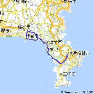 Cycling routes and bike maps in and around Yokosuka Bikemap Your