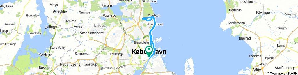 Long bike tour through Copenhagen