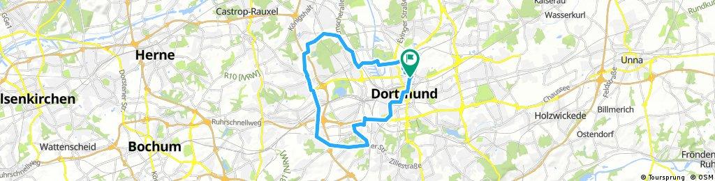 Lange Ausfahrt durch Dortmund