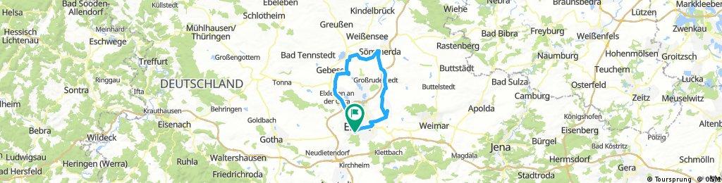 Rundfahrt von Erfurt nach Sömmerda über Ringleben nach Hause